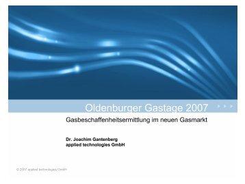 Gasbeschaffenheitsermittlung im neuen Gasmarkt - applied ...
