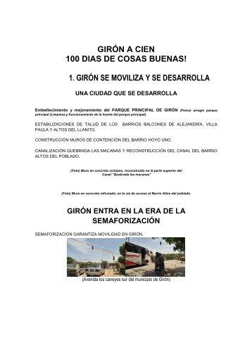 Girón - Santander - IG - 100 días - 2012 - CDIM - ESAP