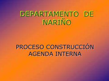 Agenda Interna - Departamento de Nariño - CDIM - ESAP