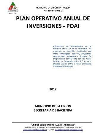 La Union-Antioquia-POAI-2012 - CDIM - ESAP