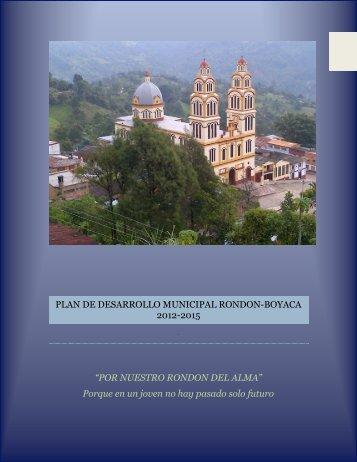 Rondón Boyacá PD 2012-2015 - CDIM - ESAP