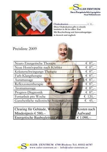 Preisliste 17 9 2009