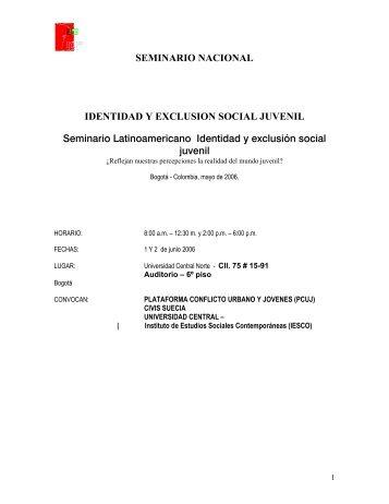 Identidad y exclusión social juvenil - CDIM - ESAP