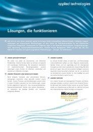 Lösungen, die funktionieren - applied technologies GmbH