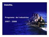 Programa de Industrias 2007 - 2008 - Deloitte Chile