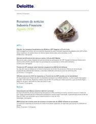 Resumen de noticias Industria Finaciera Agosto 2010 - Deloitte Chile
