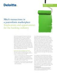 M&A transactions in a post-reform marketplace Implications and ...