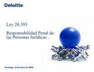 Ley 20.393 Responsabilidad Penal de las Personas ... - Deloitte Chile