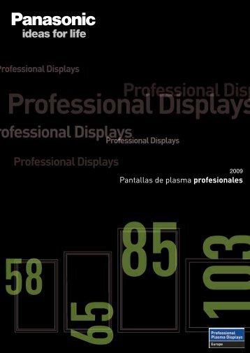 Pantallas de plasma profesionales - Panasonic