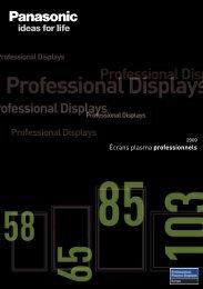 Écrans plasma professionnels - Panasonic