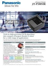 ePassport Reader JT-P100MR - Panasonic