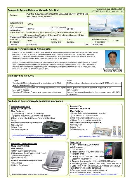 R Panasonic System Networks Malaysia Sdn Bhd