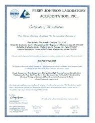 Laboratory accreditation certificate for Japanese ... - Panasonic