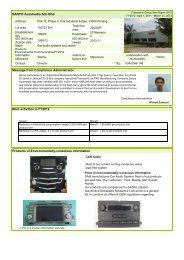 Panasonic Group Site Report 2012 - SANYO Automedia Sdn Bhd