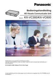 Modelnr. KX-VC300/KX-VC600 - Panasonic