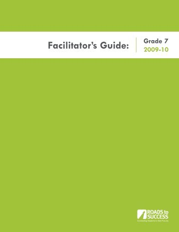 Facilitator's Guide: - WaytogoRI.org