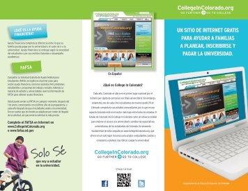 CIC Spanish Brochure 8-11.indd - College in Colorado