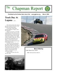 Chapman Report - Golden Gate Lotus Club