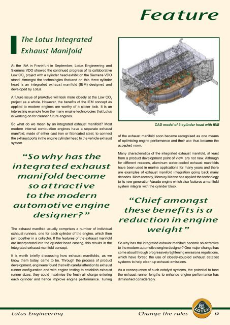 Lotus Engineering Newsletter #22