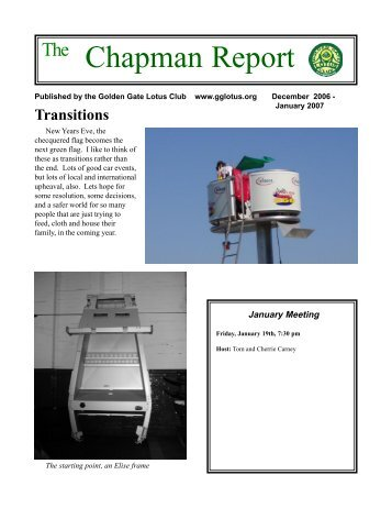 Chapman Report - Golden Gate Lotus Club