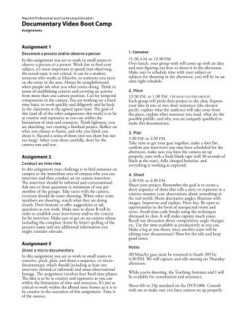 Documentary Project Proposal Template Kino
