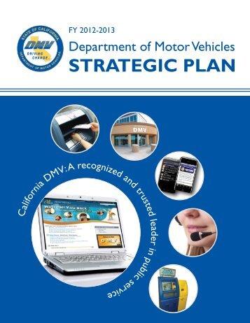 Strategic Plan - California Department of Motor Vehicles - State of ...