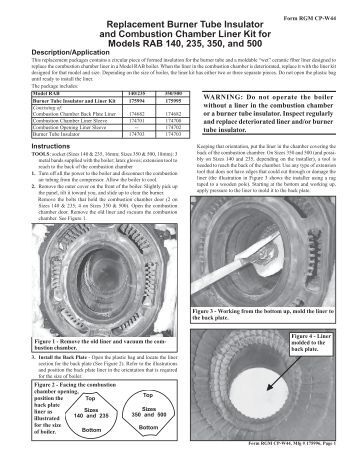 Triangle Tube Challenger Cc125 Installation Manual