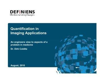 Quantification in Imaging Applications - QIBA Wiki