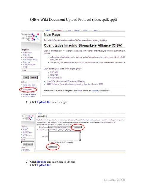 QIBA Wiki Document Upload Protocol ( doc,  pdf,  ppt)