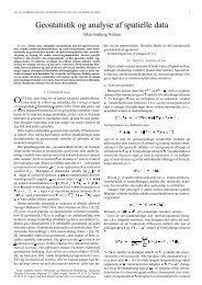 Geostatistik og analyse af spatielle data - Danmarks Tekniske ...