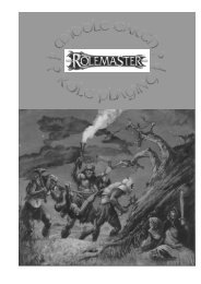 Rolemaster MERP (RMSS) - Fan Modules - Free