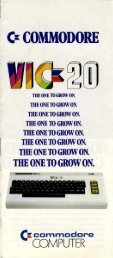 VIC-20 Brochure - Museum of Computer Adventure Game History