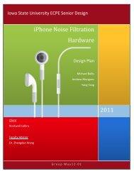 iPhone Noise Filtration Hardware - Senior Design - Iowa State ...