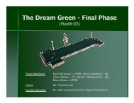 The Dream Green - Final Phase - Senior Design