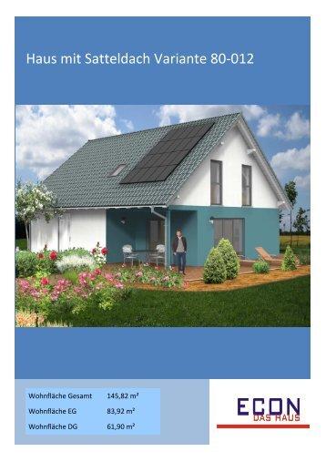 Haus mit Satteldach Variante 80-012 - ECON Werkzeuge
