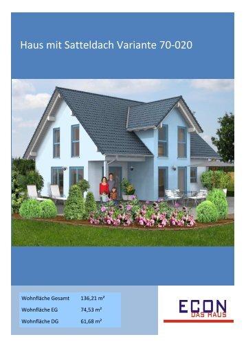Haus mit Satteldach Variante 70-020 - ECON Werkzeuge
