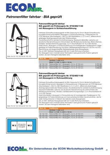 Patronenfilter - ECON Werkzeuge