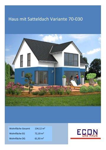 Haus mit Satteldach Variante 70-030 - ECON Werkzeuge