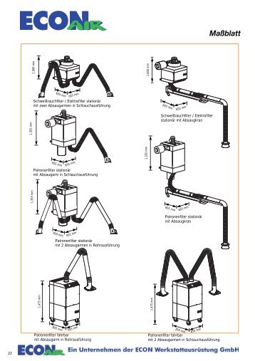 Maßblatt - ECON Werkzeuge