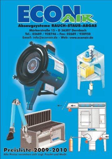 Preisliste 2009-2010 - ECON Werkzeuge