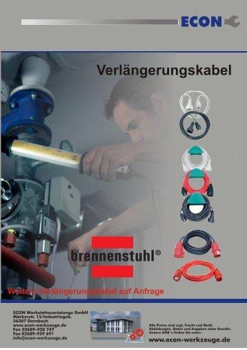 ECON Verlängerungskabel - ECON GmbH Werkzeuge
