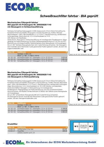 Schweißrauchfilter - ECON Werkzeuge