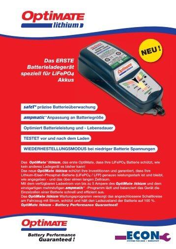OptiMate lithium - ECON Werkzeuge
