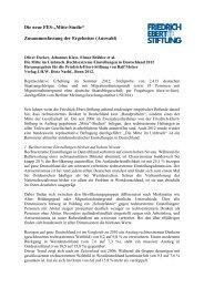 Zusammenfassung der Ergebnisse - Friedrich-Ebert-Stiftung ...