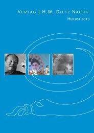 Herbst 2013 - Verlag JHW Dietz Nachf.