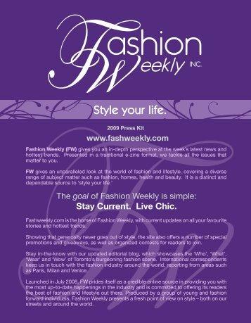 2009 Press Kit - Fashion Weekly