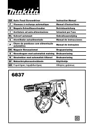 GB Auto Feed Screwdriver Instruction Manual F Visseuse à ... - Makita