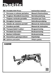 GB Portable Drill Press Instruction manual F Perceuse à ... - Makita