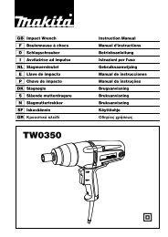 Manual de instrucciones - Makita