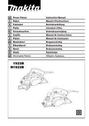 GB Power Planer Instruction Manual F Rabot Manuel d